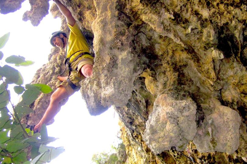 D. Scott Borden climbing Cuscabel, Cumbia Cave
