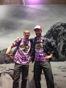 Luke and Shaun in their howling wolf shirts. K-Bone's spirit living on!
