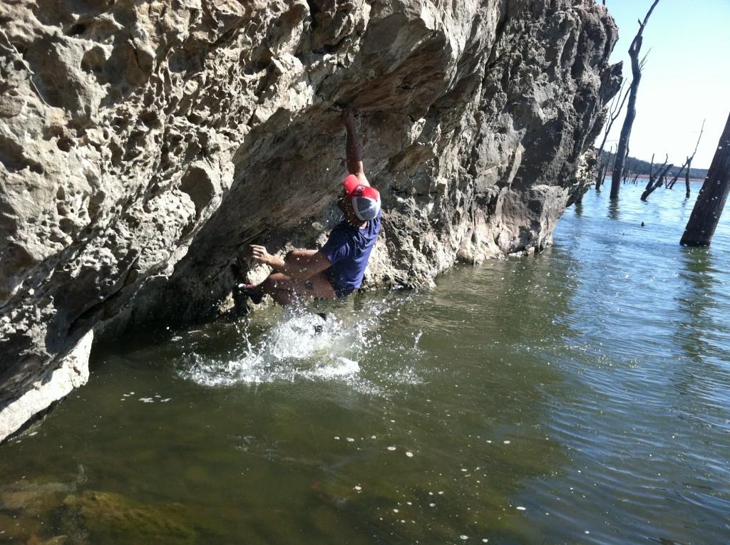 Shallow water soloing? Raven Rocks, Missouri. Photo: Dakota Walz